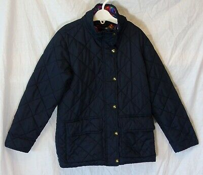 Girls Harvey & Jones Navy Blue Lightly Padded Quilted School Coat Age 5-6 Years