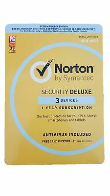 Norton Internet Security DELUXE 2020 Antivirus 3 Devices 1 Year Software