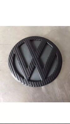 1x VW 115mm Rear Boot Badge -Carbon Wrapped- Golf Mk4 Polo 6N2 Lupo GTI TDI