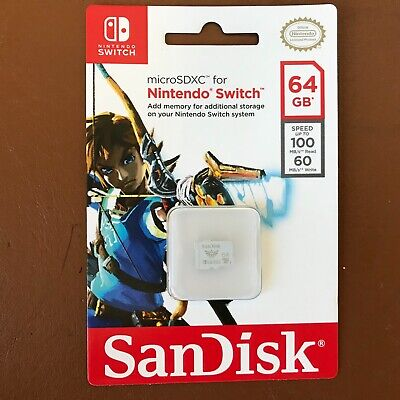 NEW SanDisk 64GB micro SDXC Memory Card For Nintendo Switch 64 GB SD card