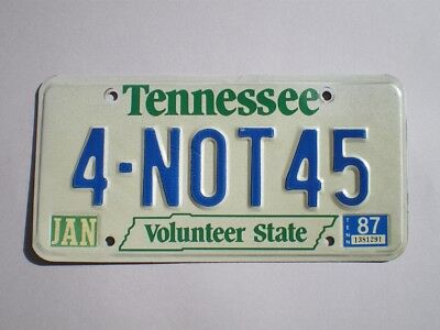 Authentic 1987 Tennessee License Plate