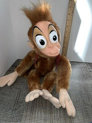 "Vintage Disney Parks Alladin Abu Monkey Plush 15"" Please Read Description"
