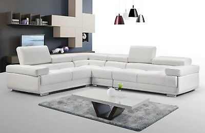 ESF 2119 MODERN Sectional Sofa in White Leather Comes with ...
