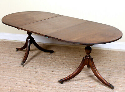 Antique Georgian Mahogany Dining Table George IV Twin Stalker Extending Table