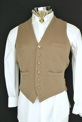 "Size 40"" Vintage Wool Front Waistcoat Doeskin Brown by Gurtex"