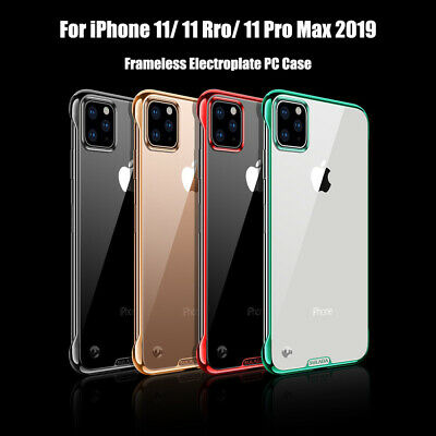 Fr iPhone 11 Pro Max/XR/Xs Max/8 Plus Frameless Case Electroplate Clear PC Cover