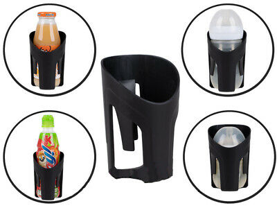 UNIVERSAL Pushchair Pram Cup Bottle Drink Coffee Black Holder