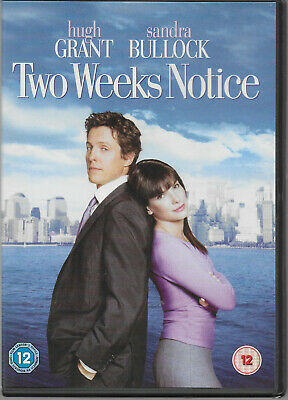 Two Weeks Notice DVD Sandra Bullock Hugh Grant