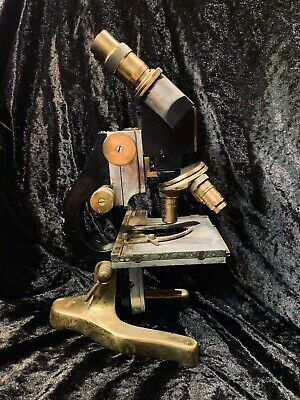 Ernst Leitz Wetzlar brass antique microscope, 1935, vintage, nautical, maritime