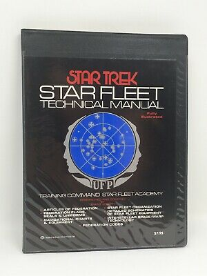 Star Trek Star Fleet Technical Manual; 1975 First Printing! StarTrek Trekkie
