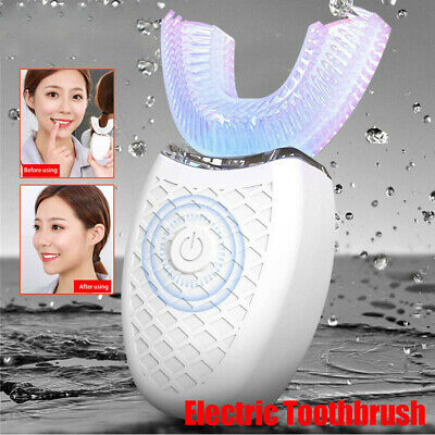 Wireless 360° Automatic Sonic USB Charging Teeth Whitening Electric Toothbrush