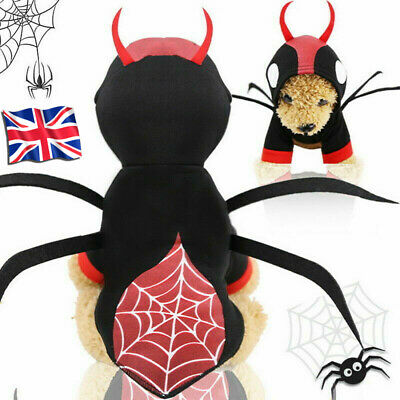 Halloween Spider Hoodie Apparel Dogs Cats Puppy Clothes Pet Supplies Costume UK