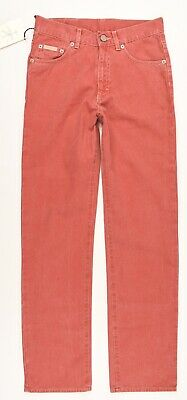 CALVIN KLEIN JEANS Boys' Kids Straight Leg Red Jeans, size 12 years
