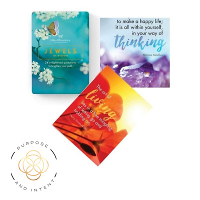 Positive Affirmation Cards Jewels of Wisdom Self Help Confidence Mindfulness