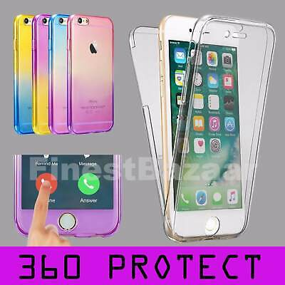 For iPhone 6 6s Front & Back TPU Gel Clear 360° Full Body Protective Case Cover
