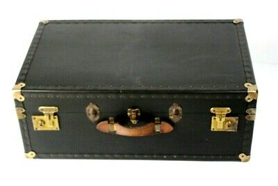 1950s Vintage  X Large  Industrial Steamer Trunk Chest Coffee Table [5513]