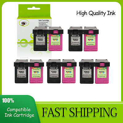 Combo Black & Color Ink Cartridge 65XL 63XL 62XL 61XL 60XL  Fit For HP Printer