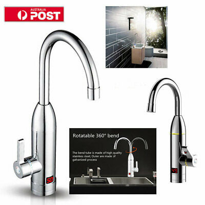 Heater 360° Electric LED Instant Hot Display Bathroom Tap Faucet  Kitchen Water