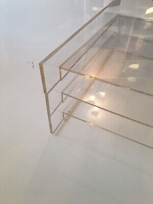 Muji Clear Plastic A4 Document / Letter Trays X 3