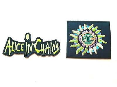 TWO ALICE COOPER PATCHES SEW d IRON ON CLASSIC ROCK MUSIC