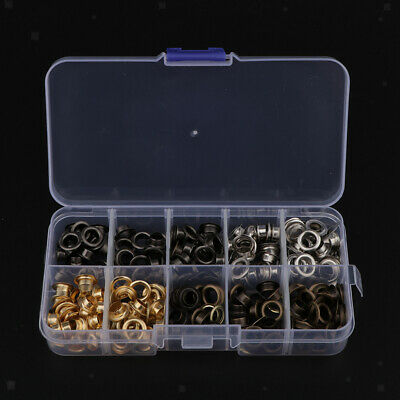 200 Sets Brass Eyelets with Washers and Install Tool DIY Garment Accessories