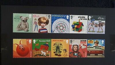 Gb Stamps 10X1St Class F/V £7 Classic Toys 2017