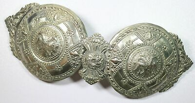 Greece Rare Authentic 19th Century Large Silver Women'S Dress Belt Buckle