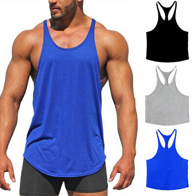 Mens Muscle Sleeveless Tank Top Tee Shirt Bodybuilding Sport Gym Vest Sexy Tops