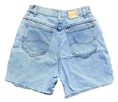 "Vintage Lee Jeans High Waist Denim Shorts 26"" Waist (mom jeans shorts)"