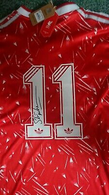 Liverpool Shirt Home adidas 1989/91 Candy Signed McMahon size L Replica