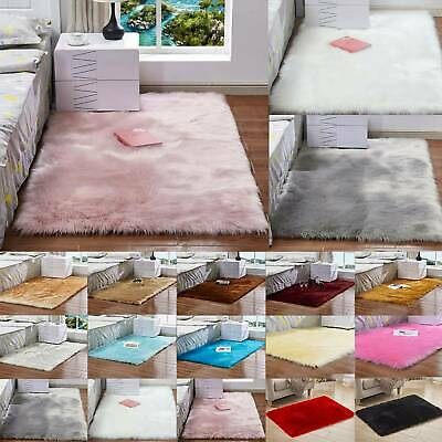 Washable Fluffy Rug Anti-Skid Shaggy Rugs Carpet Living Room Bedroom Floor Mats