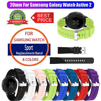 Silicone Sport Strap Band For Samsung Galaxy Watch Active 2 40mm/44mm Wristband