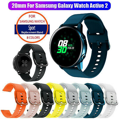 Silicone Sport Wristband Strap Band For Samsung Galaxy Watch Active 2 40mm/44mm