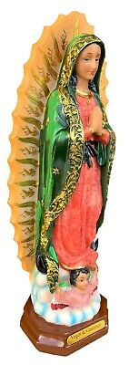 """Our Lady Of Guadalupe Statue Virgin Mary Catholic Virgen De Guadalupe 13"""""""