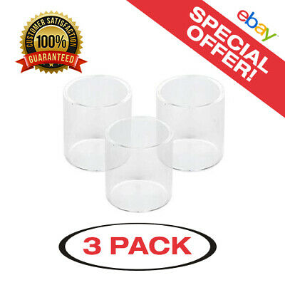 3 Pack of Melo 3 4ml Straight Replacement Glass - Same Day USA Shipping!