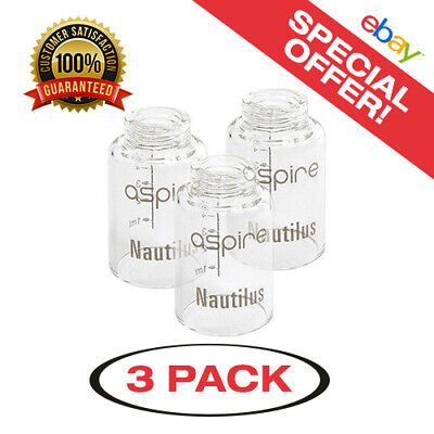 3 Pack of Nautilus Large 5ml Replacement Glass - Same Day USA Shipping!