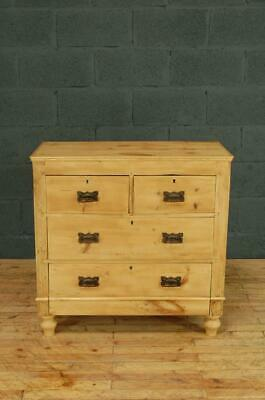 Antique Victorian Stripped Old Pine Chest of Drawers