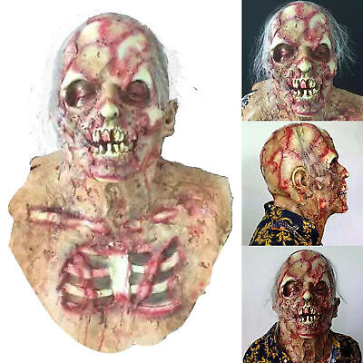 Scary Resident Evil Zombie Mask Walking Dead Costume Halloween Party Horror Mask