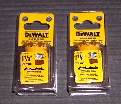 "2 ea. 1-1/8"" DeWALT D180018  Heavy-Duty Hole Saws"