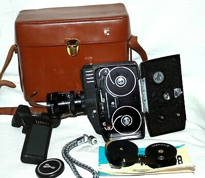 Vintage YASHICA 8 8mm Movie Camera,with book and case, collector's item