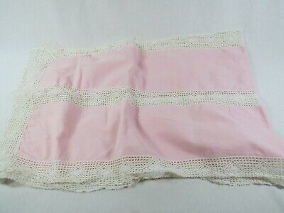 Beautiful Pink Doilie Type Rectangle Table Runner Antique - Beautiful