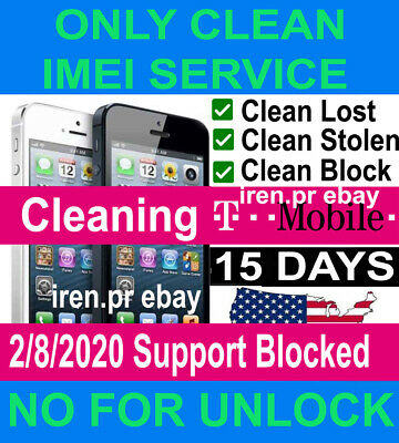 T-Mobile Service Imei Iphone 11 6/7/8/X/Xs/Xs Max& Samsung Unbarring