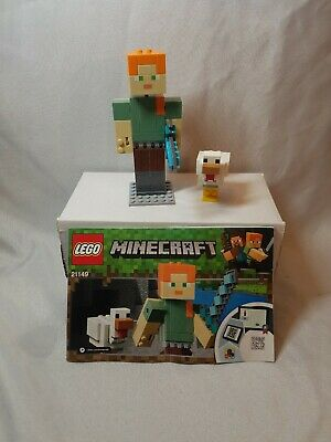 NEW Lego Minecraft 21149 Alex BigFig Chicken Big Figure Steve