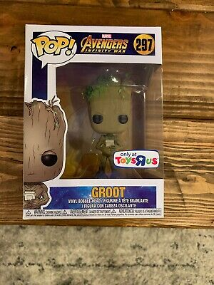 Funko Pop! Marvel Avengers Infinity War Groot #297 Toys R Us Exclusive