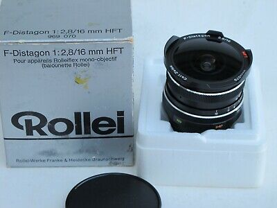 "Rollei SL35 Carl Zeiss 16mm f:2.8 HFT F-Distagon lens near MINT IN BOX ""LQQK"""