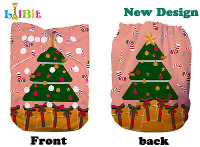 LilBit Holiday Prints Reusable Washable Baby Pocket One Size Cloth Diaper