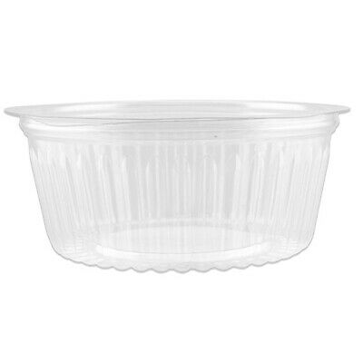 150x Show Bowl Flat Clear PET 48oz/1420mL Disposable Container Takeaway Food