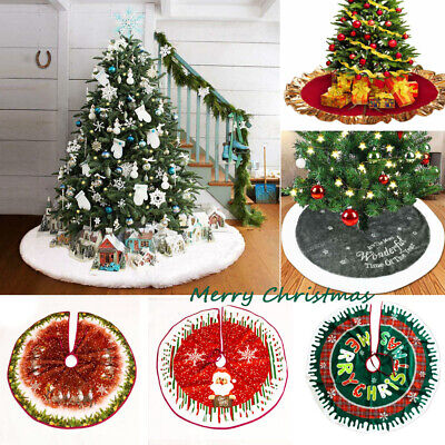 Christmas Snowman Tree Skirt Decorations Stands Bases Floor Mat Home Xmas Decors