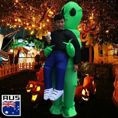 Scary Halloween Alien Inflatable Costume Blow Up Suits Party Dress for 1.5-2.0m