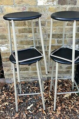 Industrial Metal Stacking Stools, Circa 1960/70s (6 Available)